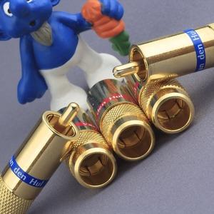 Разъем RCA (Папа) Van Den Hul C-8.4 Gold (Blue)