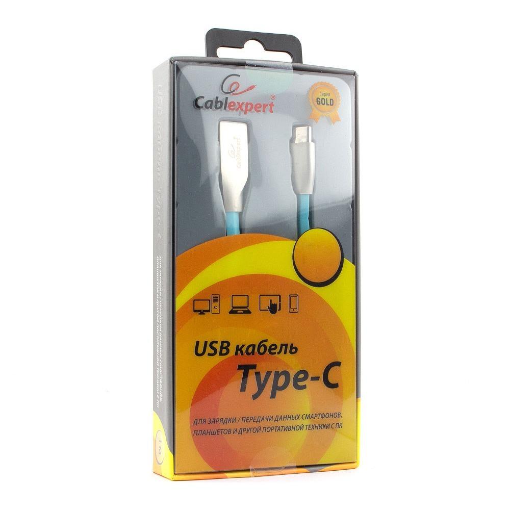 Кабель USB 3.1 Тип C - USB 2.0 Тип A Cablexpert CC-G-USBC01Bl-1M 1.0m