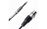 Кабель аудио 1xJack - 1xXLR Rich Pro RP201BLK 0.25m