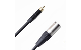 Кабель аудио 1xRCA - 1xXLR Rich Pro RP501BLK 0.5m
