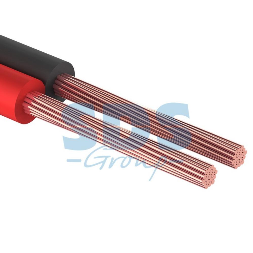 Кабель акустический на катушке Rexant 01-6104-3-20 ШВПМ 2х0.75 мм2 (красно-черный) (20 метров)