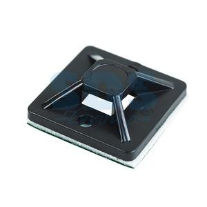 Площадка для кабеля Rexant 07-2021 20 х 20 мм, черная (100 штук)