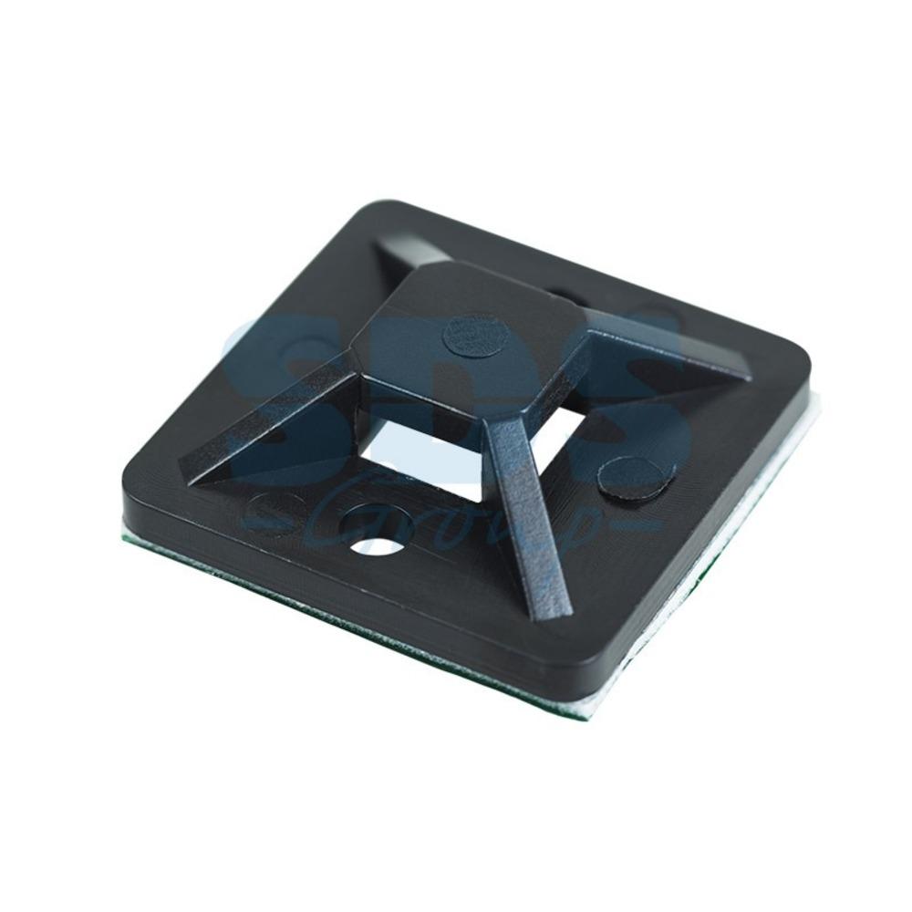 Площадка для кабеля Rexant 07-2026-10 25 х 25 мм, черная (10 штук)