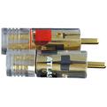 Разъем RCA (Папа) Atlas Cables Integra Element RCA Clear Plug Black