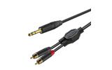 Кабель аудио 1xJack - 2xRCA Roxtone GPTC190/2 2.0m