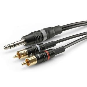 Кабель аудио 1xJack - 2xRCA Sommer Cable HBP-6SC2-0090 0.9m