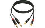 Кабель аудио 2xJack - 2xRCA KLOTZ KT-CJ090 0.9m