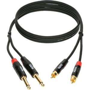 Кабель аудио 2xJack - 2xRCA KLOTZ KT-CJ600 6.0m