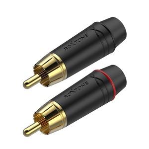 Разъем RCA (Комплект) Roxtone RF2P-BG (2шт.)