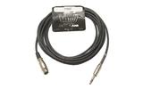 Кабель аудио 1xJack - 1xXLR Invotone ACM1010FS/BK 10.0m