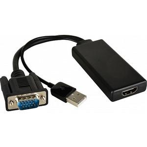 Переходник VGA вилка на HDMI розетка активный Kramer ADC-GM/HF