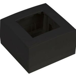 Рамка с настенной коробкой для поверхностного монтажа одного модуля 45x45 мм Audac WB45S/B