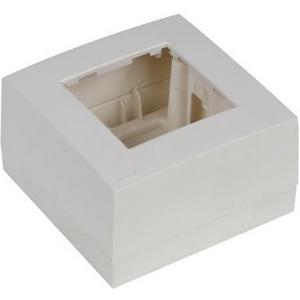 Рамка с настенной коробкой для поверхностного монтажа одного модуля 45x45 мм Audac WB45S/W