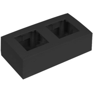 Рамка с настенной коробкой для поверхностного монтажа двух модулей 45x45 мм Audac WB45D/B