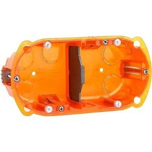 Рамка с настенной коробкой для поверхностного монтажа двух модулей 45x45 мм Audac WB45D/FG