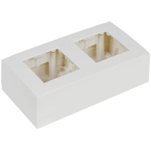 Рамка с настенной коробкой для поверхностного монтажа двух модулей 45x45 мм Audac WB45D/W
