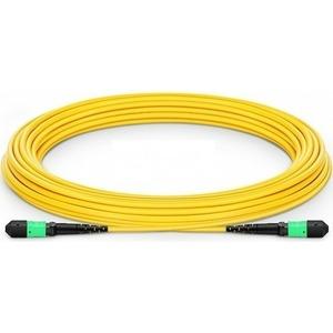 Патч-корд волоконно-оптический Hyperline FHD-MC3-9-MPOF12/AS-MPOF12/AS-A-15M-LSZH-YL 15.0m