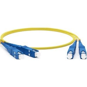 Патч-корд волоконно-оптический Hyperline FC-D2-9-SC/UR-SC/UR-H-15M-LSZH-YL 15.0m