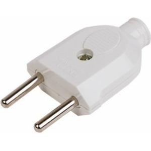 Вилка прямая PROconnect 11-8533 б/з белая 10 А