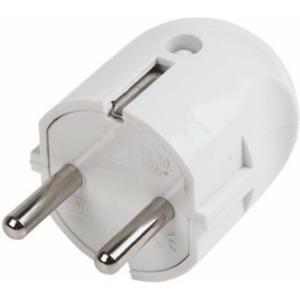 Вилка прямая PROconnect 11-8531 с/з белая 16 А