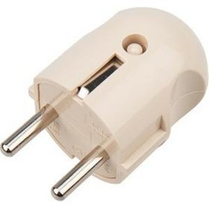 Вилка прямая PROconnect 11-8531-4 с/з кремовая 16 А