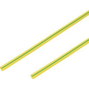 Термоусадочная трубка PROconnect 55-0207 2,0/1,0 мм, желто-зеленая, 1 метр