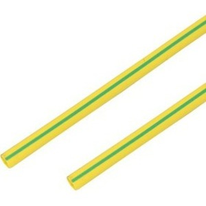 Термоусадочная трубка PROconnect 55-5007 50/25 мм, желто-зеленая, 1 метр