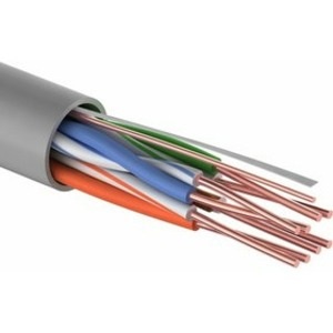 Кабель UTP PROconnect 01-0043-3-100 4PR 24AWG, CCA, CAT5e, PVC, серый, бухта 100 м