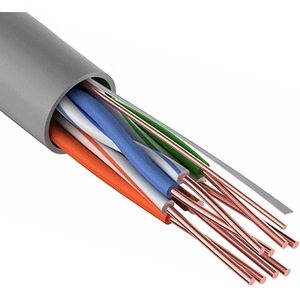 Кабель UTP PROconnect 01-0052-50 4PR 24AWG, CU (медь), CAT5E, 100 МГц, PVC, серый, бухта 50 м