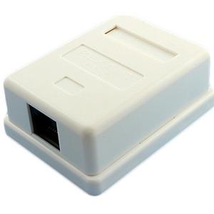 Рoзетка компьютерная внешняя PROconnect 03-0121-9 1-порт RJ-45 (8P8C), UTP неэкранированная, категория 5e, пакет, 1шт