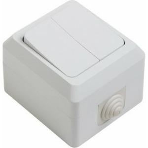 Выключатель двухклавишный PROconnect 78-0514 влагозащищенный открытой установки 10 А IP44