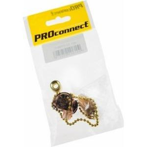 Выключатель PROconnect 32-0106-9 для настенного светильника c деревянным наконечником Gold