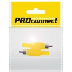 Разъем RCA PROconnect 14-0402-8 пайка, жёлтый, (2шт.)