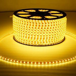 Светодиодная лента Neon-Night 142-602 LED лента 220 В, 10х7 мм, IP67, SMD 2835, 60 LED/m, цвет свечения желтый (100 метров)