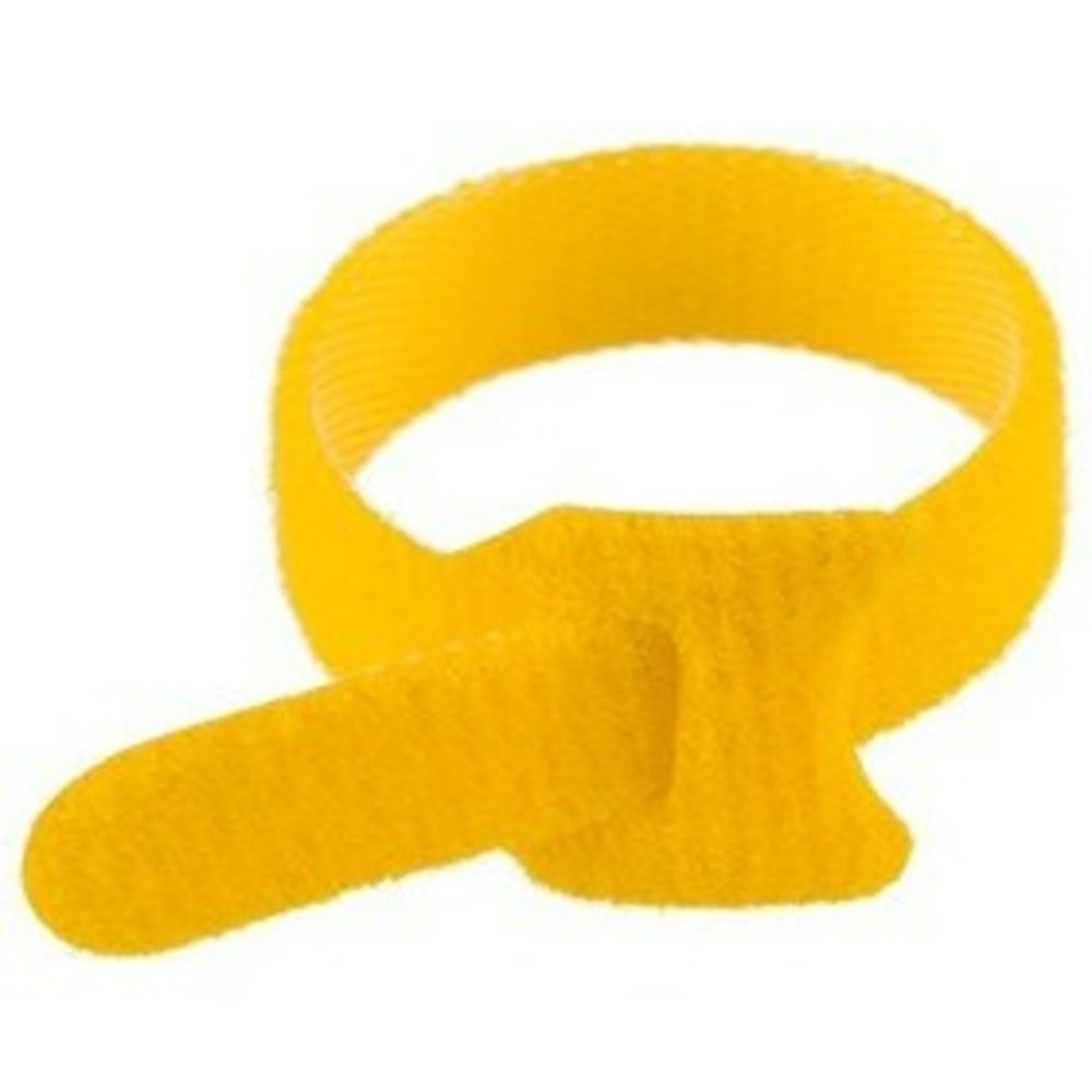 Хомут-липучка многоразовый Rexant 07-7212 230х13 мм, желтый (упак. 12 шт.)