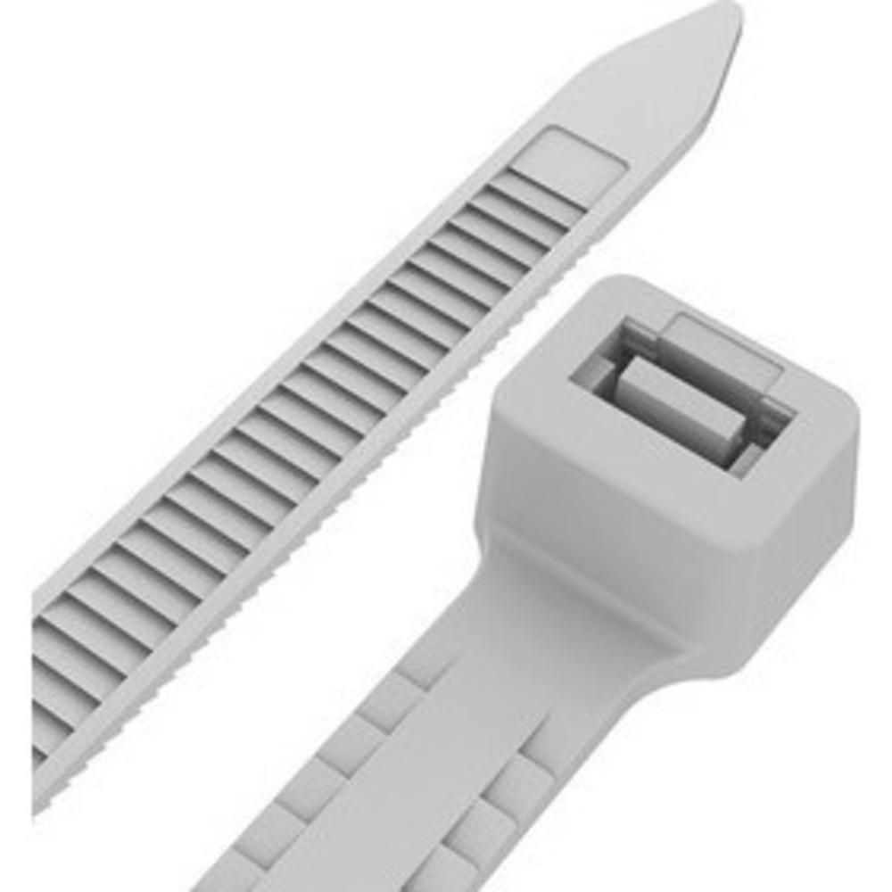 Хомут-стяжкa нейлоновая с тройным замком Rexant 67-0202 200x7,5 мм, белая, упаковка 100 шт.