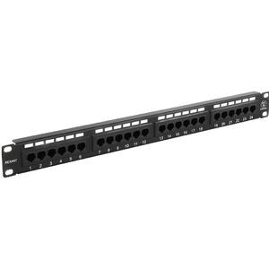 """Патч-панель 19"""" Rexant 04-0021 1U, 24 порта RJ-45, категория 5e, UTP неэкранированная, черная"""
