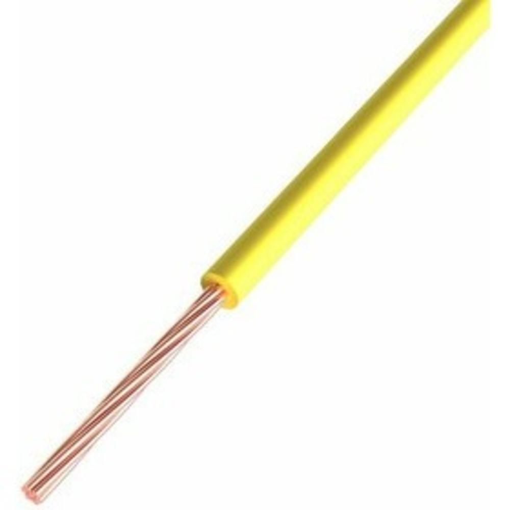Провод ПГВА Rexant 01-6512-1 1х0.50 мм, Cu, желтый, бухта 500 м