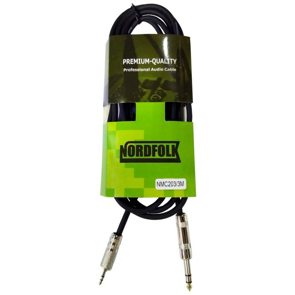Кабель аудио 1xMini Jack - 1xJack NORDFOLK NMC203/3 3.0m