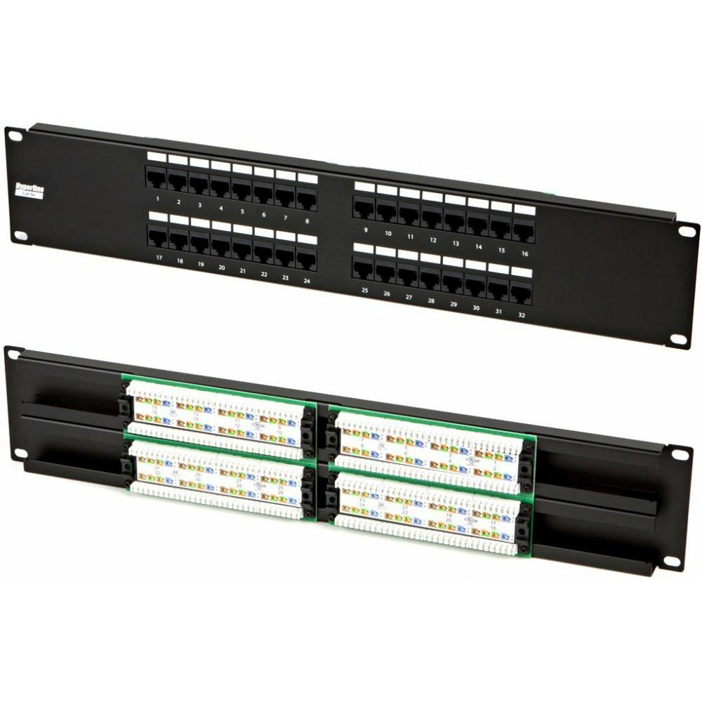 "Патч-панель 19"" Hyperline PP2-19-32-8P8C-C5e-110D"