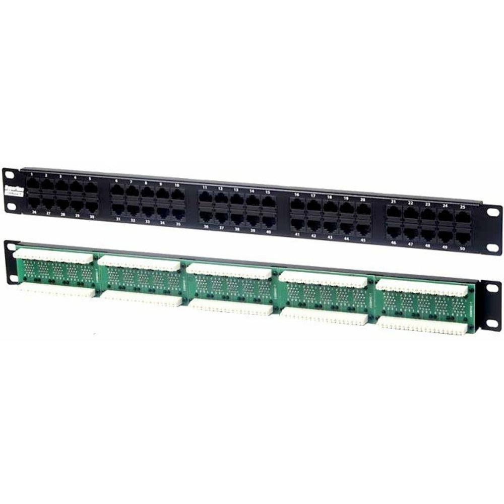 """Патч-панель 19"""" Hyperline PP-19-50-8P8C-C5-110D"""