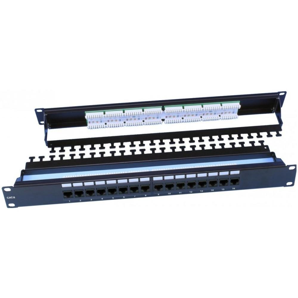 """Патч-панель 19"""" Hyperline PP3-19-16-8P8C-C6-110D"""