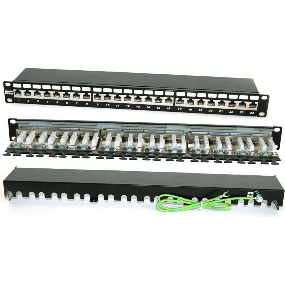 "Патч-панель 19"" Hyperline PP2-19-24-8P8C-C6A-SH-110D"