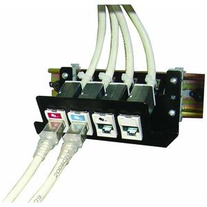 Патч-панель на 4 модуля Siemon DIN-PNL-04-01