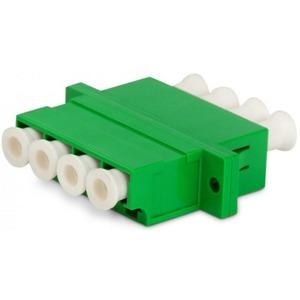 Проходной адаптер LC-LC Hyperline QLC-QLC-APC-SM