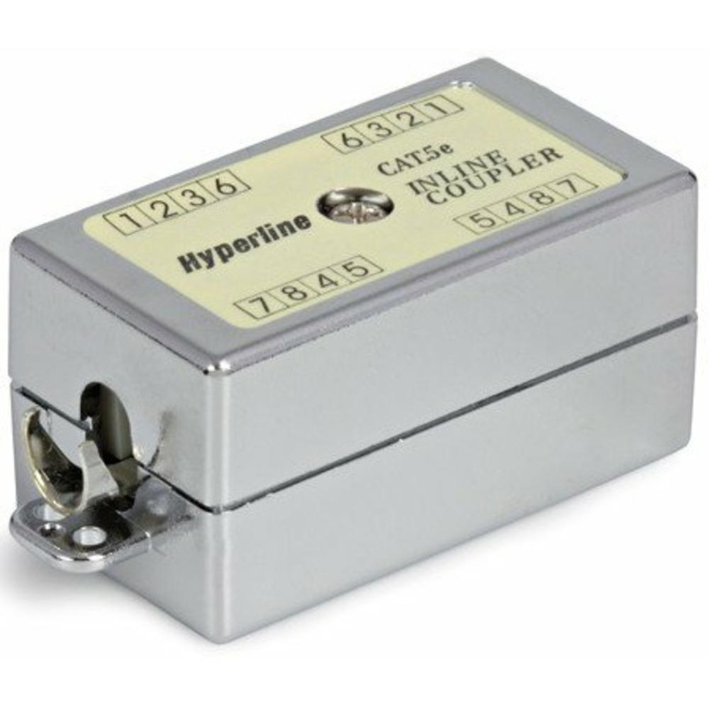 Проходной адаптер (coupler) Hyperline CA-IDC-C5e-SH-F-WH