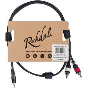 Кабель аудио 1xMini Jack - 2xRCA Rockdale XC-001-1M 1.0m