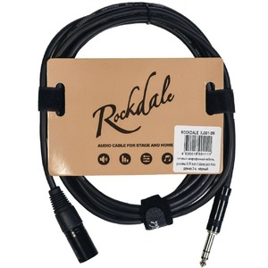 Кабель аудио 1xJack - 1xXLR Rockdale XJ001-3M 3.0m