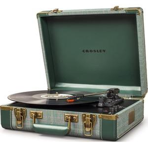 Проигрыватель виниловых дисков Crosley EXECUTIVE PORTABLE [CR6019D-PNE] Pine Needle c Bluetooth