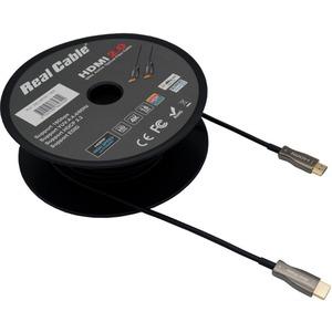 Кабель HDMI - HDMI оптоволоконный Real Cable HD-OPTIC 15.0m